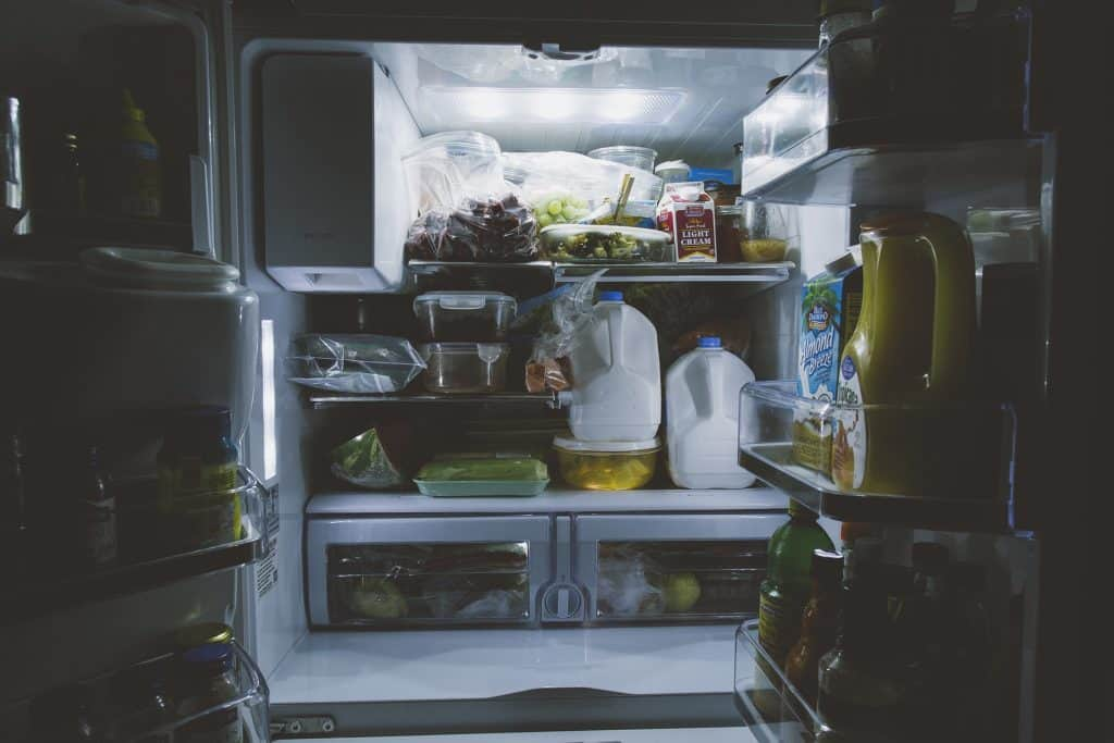 A Refrigerator with door open