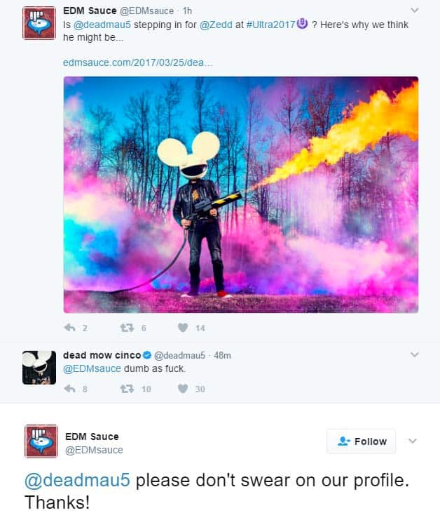 Please Dont Swear On My Profile thanks deadmau5