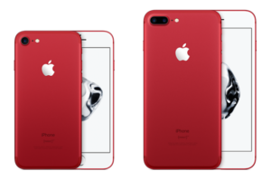 iphone 7 red white front face