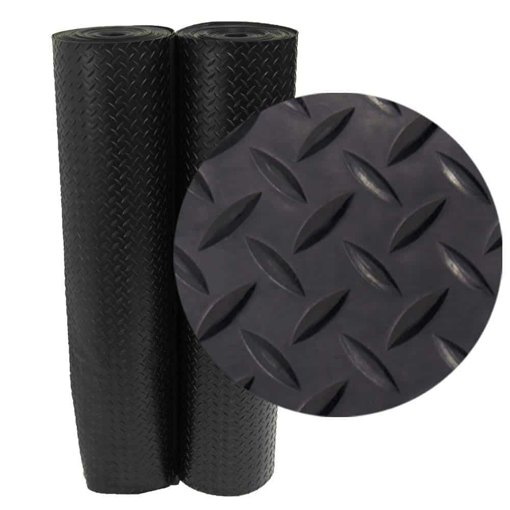 Diamond Plate Rubber Flooring Rolls, 3mm x 4ft Wide Rolls review