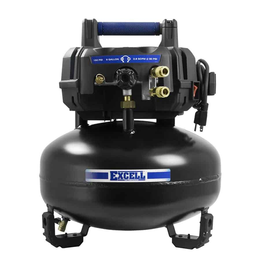 Excell U256PPE 6 Gallon Pancake best garage air compressors