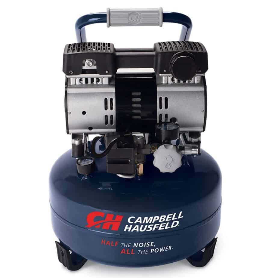 Quiet Air Compressor, 6 Gallon Pancake, Half the Noise, 4X Life, All the Power (Campbell Hausfeld DC060500) review