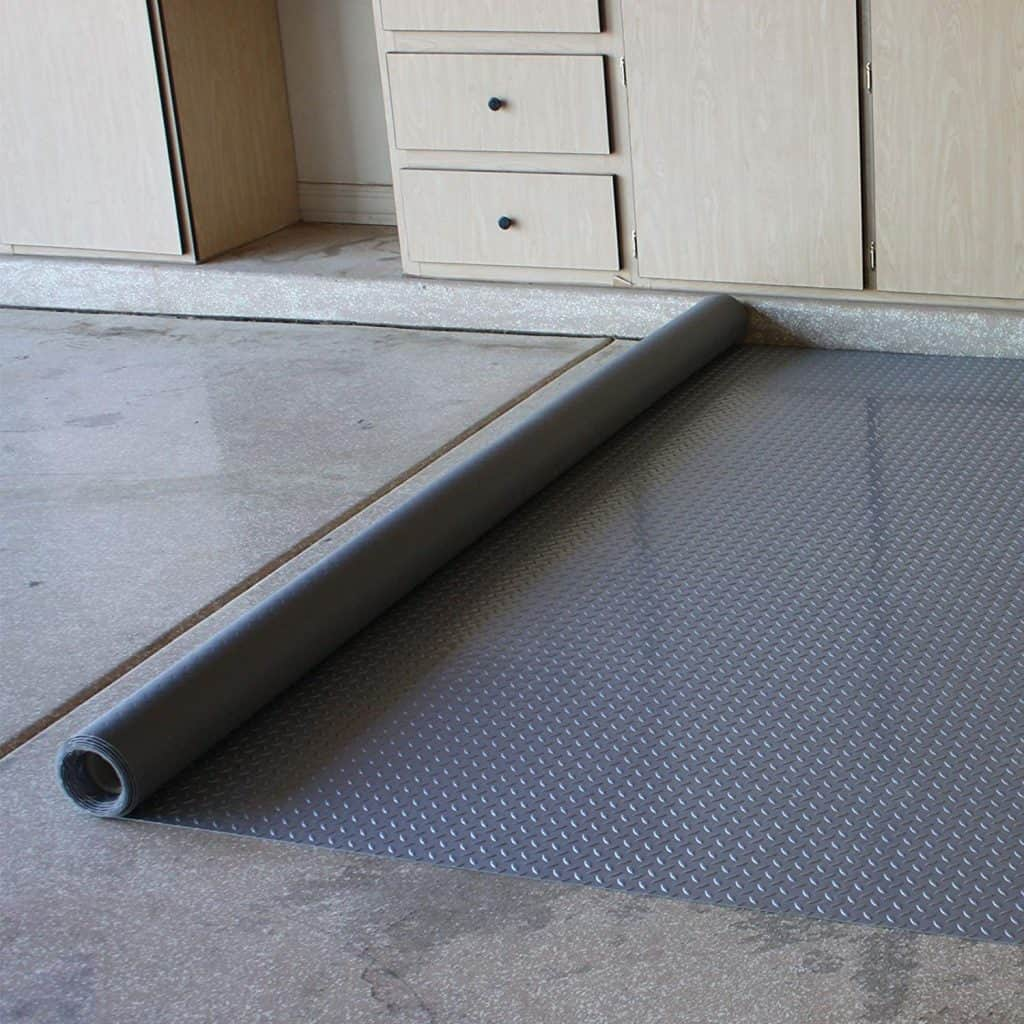 garage floor protector rolled out